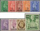 PAs Eastern Arabia SG16-24 1948 Definitive Stamps of GB King George VI surch set of 9 (MDES/127)